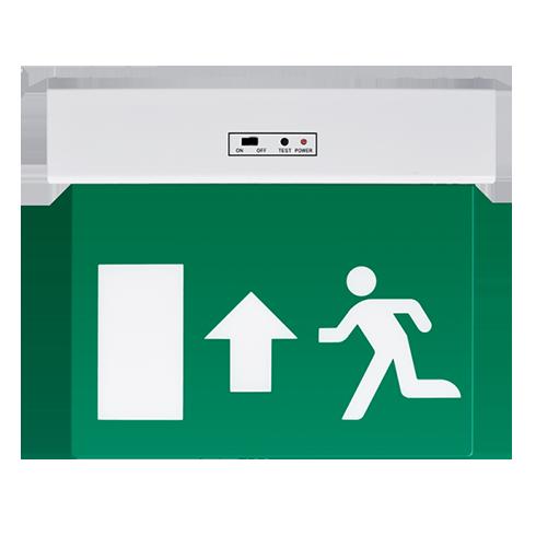 LED kijáratjelző lámpatest felfelé mutató nyíllal - fehér