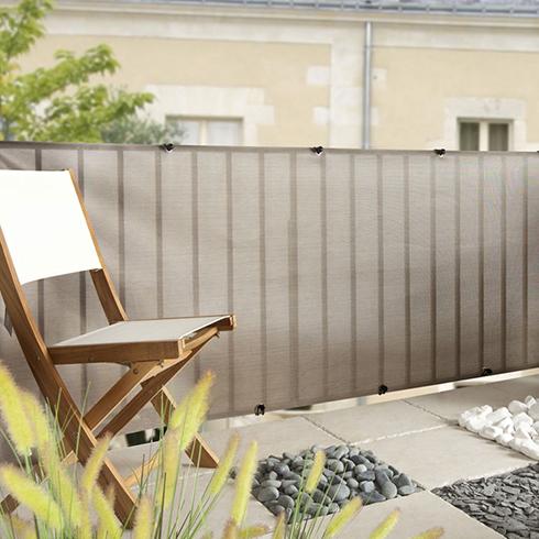 Belátásgátló fűzőlyukkal 85%, modern árnyékoló háló EVERLY (1.5x5 méter)