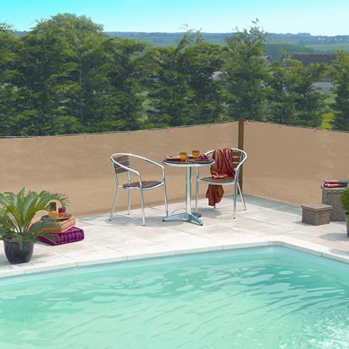 Szőtt árnyékoló háló 80%-os takarás, EXTRANET (2x10 méter) homokbarna
