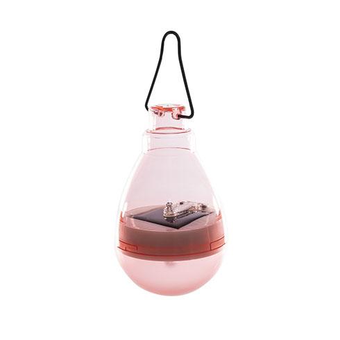 Firefly szolár függő LED lámpa - rózsaszín