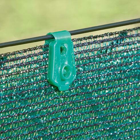 Rögzítő szőtt árnyékoló hálóhoz - FIXATEX kapocs (20 db) zöld