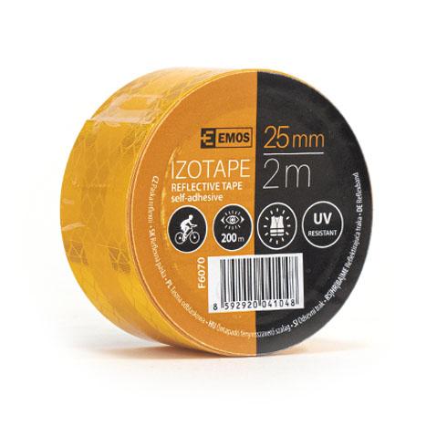 Fényvisszaverő szalag, öntapadós (25mm/2m) narancs
