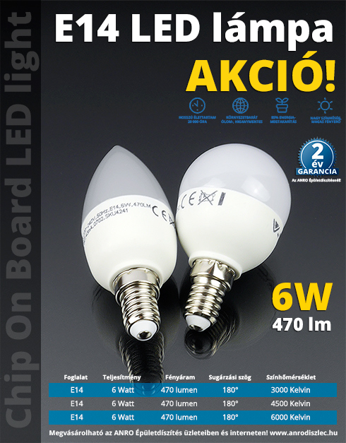 V-TAC LED lámpa E14 (COB LED/6Watt/180°) - R45 term. fehér (2 db) - Ár: 1 518 Ft - LED lámpa 230 ...