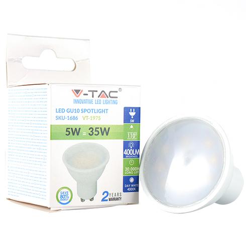- LED lámpa GU10 (5W/110°) meleg fehér