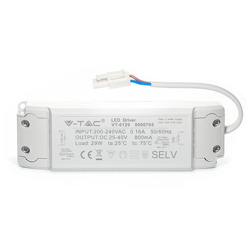 Tápegység 29 Wattos V-TAC LED panelekhez (5 év)