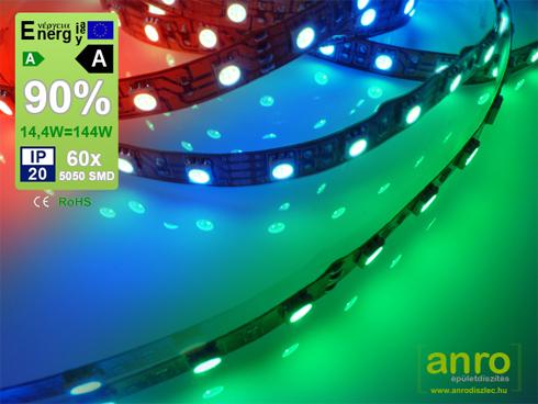 Színváltós RGB LED szalag