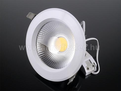 Beépíthető LED lámpa 20W (135 mm, kerek) meleg f.