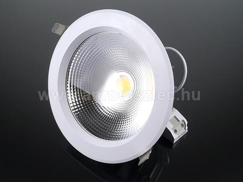 Beépíthető LED lámpa 30W (180 mm, kerek) meleg f.