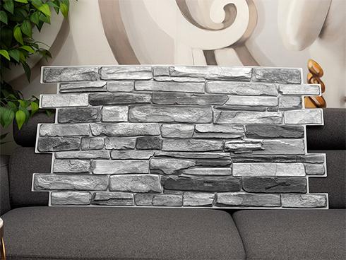 ANRO Wall Flexpanel PVC falburkoló lap Rock Silver (szürke kő)