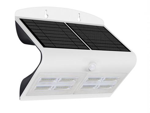 Napelemes oldalfali lámpa (fehér) 7W 4000K+4000K