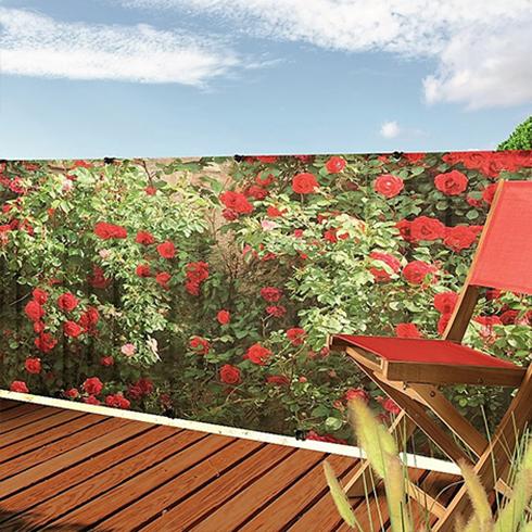 Belátásgátló fűzőlyukkal 85%, nyomtatott minta STYLIA (1x3 méter) virág