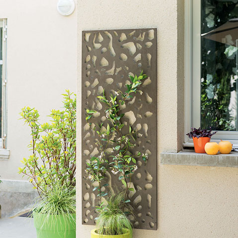 Dekorációs fém panel, leszúrható vagy falra szerelhető (150x60 cm) absztrakt