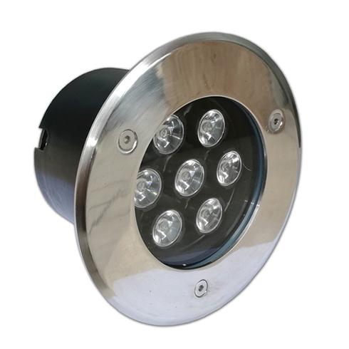 Talajba építhető LED lámpatest (7W) hideg fehér