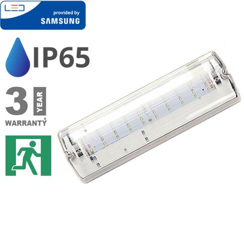 PRO LED vészvilágító (4W - 12 óra töltési idő) hideg fehér, Samsung