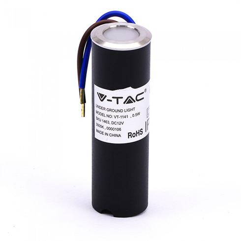 Mini LED talajlámpa (0.5W) meleg fehér IP67 - 12V!