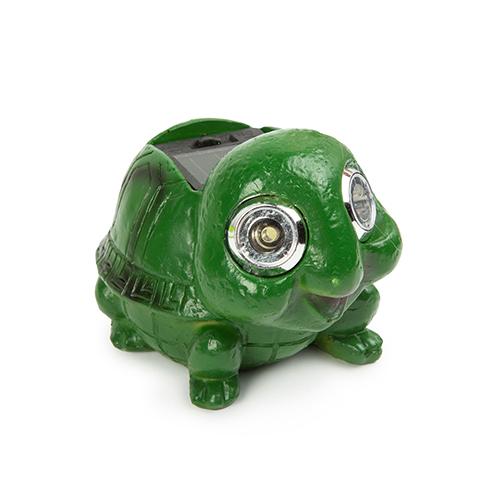 Teknős állatfigura, kerti szolár LED lámpa