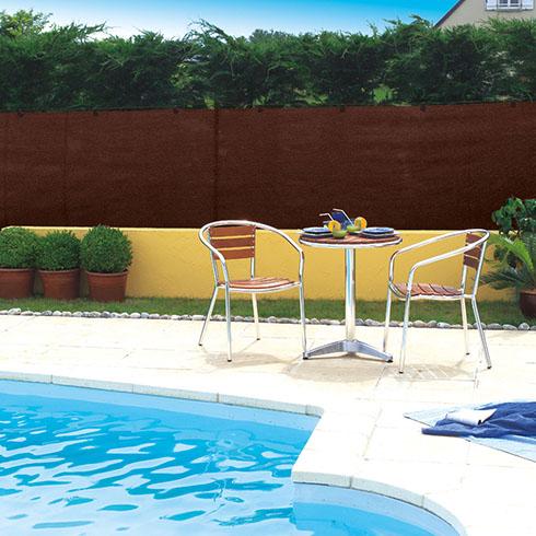 Szőtt árnyékoló háló 95%-os takarás, TOTALTEX (2x10 méter) barna