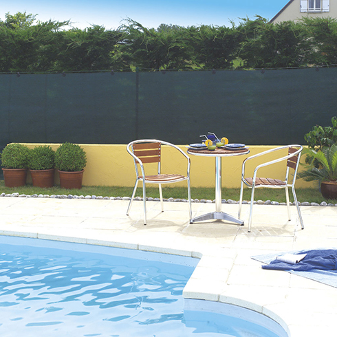 Szőtt árnyékoló háló 95%-os takarás, TOTALTEX (2x10 méter) zöld