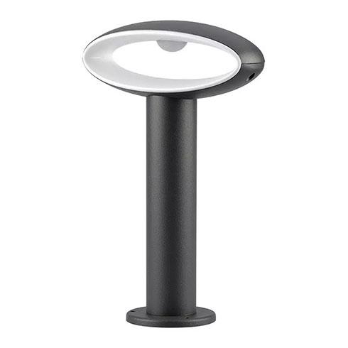 BOLLARD kerti LED állólámpa, antracit (9W/500lm) 30 cm, meleg fehér