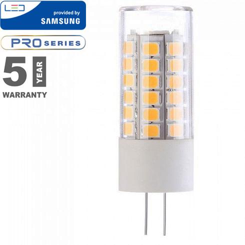 LED lámpa G4 (3.5W/300°) Rúd - meleg fehér, PRO Samsung