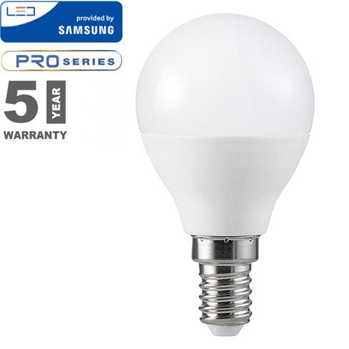 E14 LED lámpa (5.5W/180°) Kisgömb P45 - természetes fehér, PRO Samsung