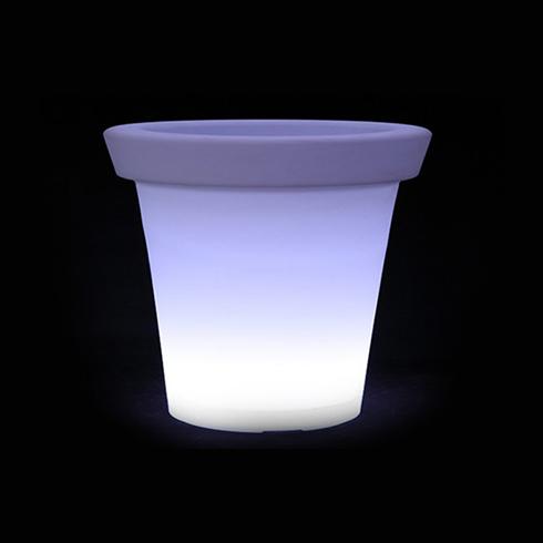 RGB LED világítású kerti dekoráció, akkuval, távirányítóval - virágláda