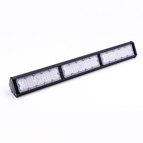 LED csarnokvilágító, lineáris, függeszthető (150W/100°)  természetes fehér - fekete
