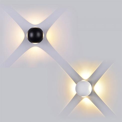 Oldalfali dekor lámpatest - fehér (4W) természetes fehér