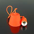 E27-es szilikon függőlámpa, narancssárga