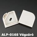 ALP-016S Véglezáró alumínium LED profilhoz, szürke