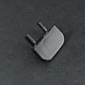 Type-Z Végzáró süllyeszthető alu LED profilhoz, fekete