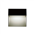 StepLight-L LED lépcsővilágító - négyzet, fekete (3W) meleg fehér Kifutó!