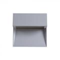 StepLight-L LED lépcsővilágító - négyzet, szürke (3W) meleg fehér