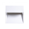 StepLight-L LED lépcsővilágító - négyzet, fehér (3W) meleg fehér