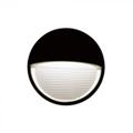 StepLight-L LED lépcsővilágító - kör, fekete (3W) meleg fehér Kifutó!