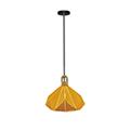 Pastel Wood modern csillár (E27) sárga bura + fa dekor