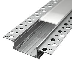 Recessed-8  gipszkartonba süllyeszthető alu profil eloxált LED szalaghoz, opál burával