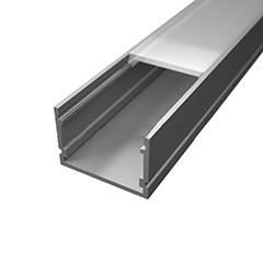 Surface-7 Alumínium U profil ezüst, LED szalaghoz, opál burával