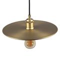Fém tányéros csillár Plate (E27) - matt arany