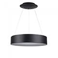 Ledes design csillár (20W) - meleg fényű, dimmelhető, fekete