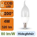 LED lámpa E14 (4Watt/200°) Láng - hideg fehér