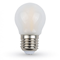 E27 LED izzó Loft filament (4W/300°) Kisgömb - hideg fényű