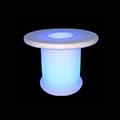 -RGB LED világítású kerti bútor, akkuval, távirányítóval - kávézó asztal