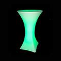 RGB LED világítású kerti bútor, akkuval, távirányítóval - bárasztal