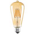 E27 LED izzó Vintage filament (6W/300°) ST64 - meleg fehér