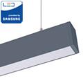Irodai fel-le világító LED lámpatest (60W) ezüst ház - 4000K- sorolható