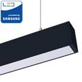 Irodai fel-le világító LED lámpatest (60W) fekete ház - 4000K- sorolható