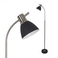 Eldar - modern állólámpa (E27) Fekete-matt króm