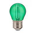 LED lámpa E27 Színes filament (2W/300°) Kisgömb - zöld