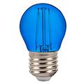 LED lámpa E27 Színes filament (2W/300°) Kisgömb - kék